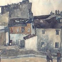 Akvarell_hus_Paris_1950