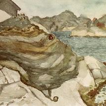 Akvarell_kustklippor_1957